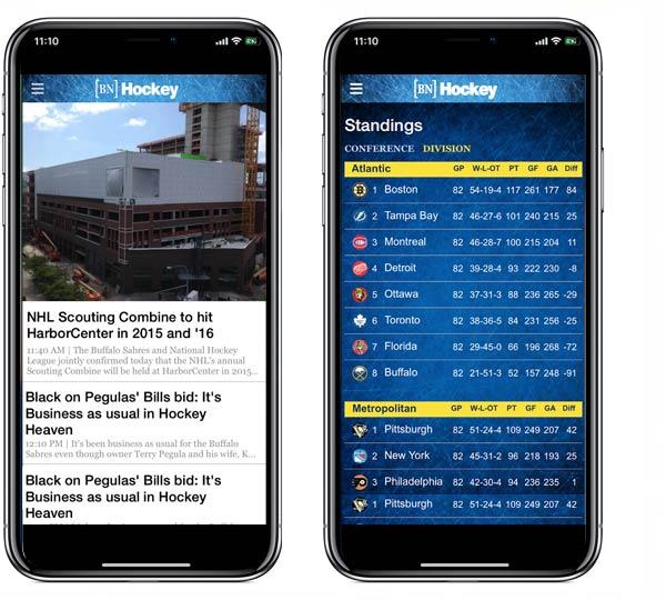 Buffalo News [BN] Hockey App for iPad, iPhone, Android