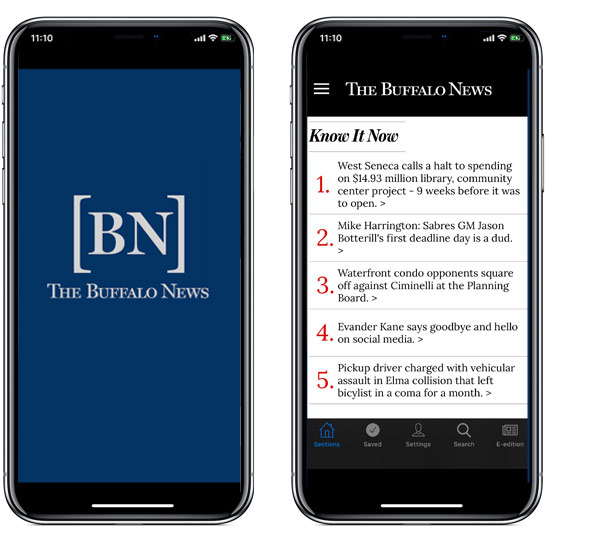 Buffalo News App for iPad, iPhone, Android and Kindle